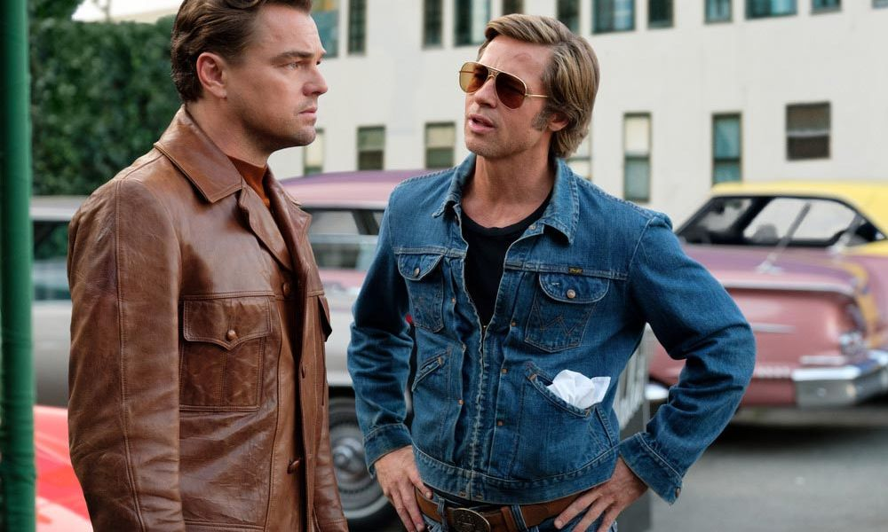 Two men talking in Once Upon a Time in Hollywood.
