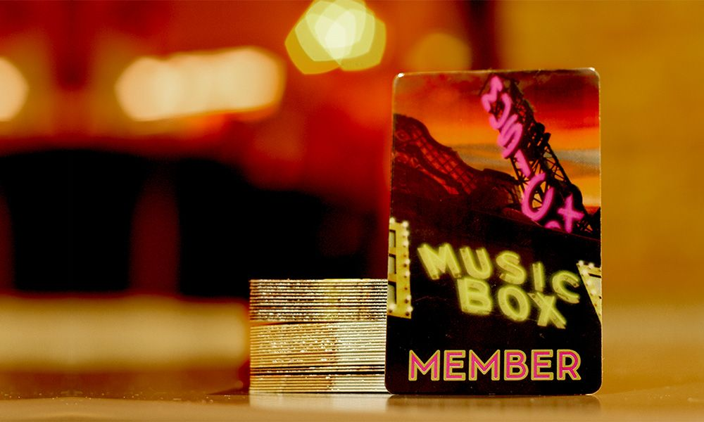 Photo of the Music Box Theatre Membership Card