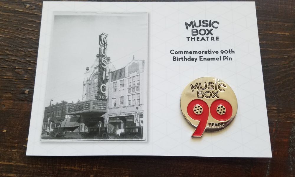 90th Pin Card Front